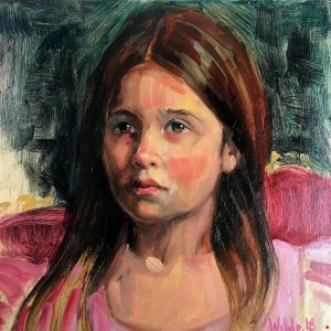 Sadie, Oil on Canvas, 12 x 12, Available, $300