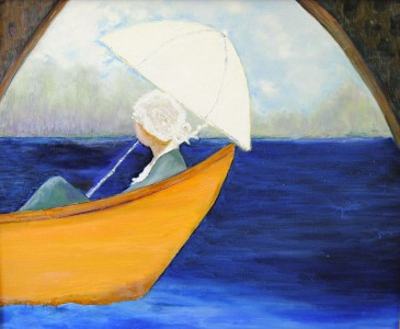 Betty Pethel, Yellow Boat, Oil on Canvas