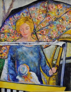 Betty Pethel, Yellow Cab, Oil on Canvas